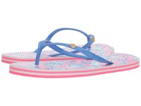 Lilly Pulitzer Pool Flip Flop Cosmic Coral Slide Shoes Multi