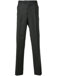 Gieves And Hawkes Classic Tailored Trousers Virgin Wool Grey