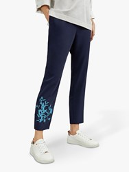 Ted Baker Quavey Embroidered Trousers Dark Blue