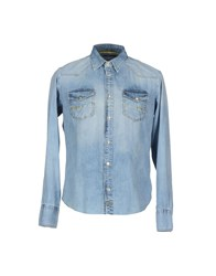 Meltin Pot Denim Denim Shirts Men Blue