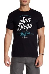 Rip Curl Short Sleeve Front Graphic Print Tee Black