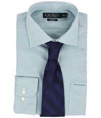 Lauren Ralph Lauren Non Iron Twill Classic Warren Pocket Shirt Fern White Mulit Men's Long Sleeve Button Up Blue