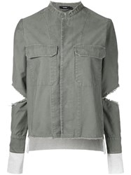Bassike Ribbed Detail Jacket Women Cotton 12 Green