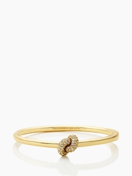 Kate Spade Sailor's Knot Pave Hinge Bangle Clear Gold