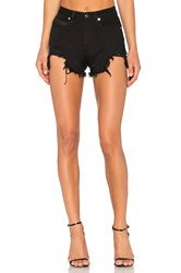 Marcelo Burlon Alin Shorts Light Wash Black