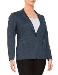 Michael Michael Kors Plus Denim Blazer Indigo