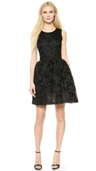 Loyd Ford Beaded Lace Cup Dress Black