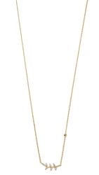 Tai Leaf Necklace Gold Clear