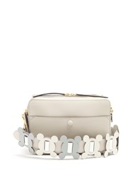 Anya Hindmarch The Stack Leather Cross Body Bag Grey Multi
