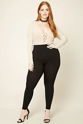 Forever 21 Plus Size Control Top Leggings Black