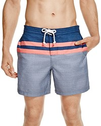Original Penguin Chambray Stripe Volley Board Shorts 100 Bloomingdale's Exclusive Flint Stone