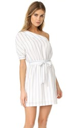 After Market One Shoulder Dress White Combo