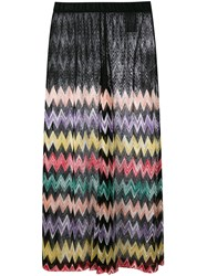 Missoni Sheer Panel Zig Zag Skirt Black