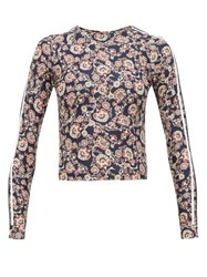 The Upside Paisley Print Rash Guard Blue Multi