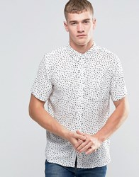 Native Youth Polka Dot Short Sleeve Shirt White
