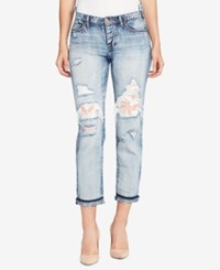 William Rast Cotton Ripped Boyfriend Jeans Domming