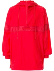 Juun.J Hooded Over Sized Sweatshirt Red