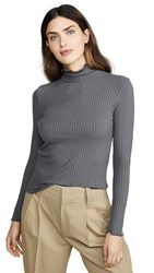 3X1 Ribbed Turtleneck Pewter