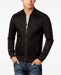 Inc International Concepts Men's Mesh Solid Sleeve Jacket Only At Macy's Deep Black