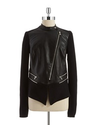Kenneth Cole Reilly Faux Leather Jacket Black