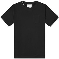 Sacai Zip Neck Tee Black
