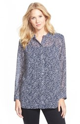 Women's Two By Vince Camuto Print Utility Shirt Black Orchid Flower