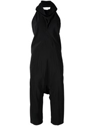 Rick Owens Cowl Neck Jumpsuit Black