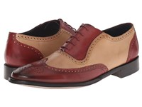 Messico Capuchino Cherry Bone Leather Men's Dress Flat Shoes Brown