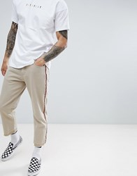 Fairplay Relaxed Skate Chino With Side Stripe In Stone