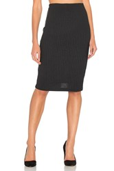 Bella Luxx Plush Rib Tube Skirt Black