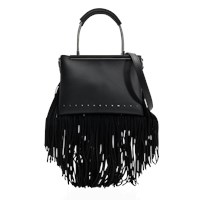 Alexander Wang Dime Small Satchel Bag With Fringes