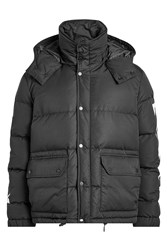 Off White Quilted Down Jacket With Hood Black