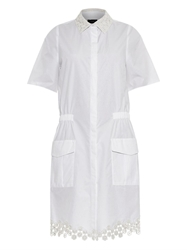 Joseph Bradley Lace Detail Cotton Poplin Dress