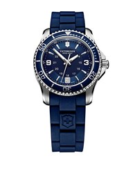 Victorinox Ladies Maverick Stainless Steel And Rubber Watch Blue