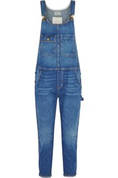 Current Elliott The Carpenter Denim Overalls Blue