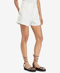 Polo Ralph Lauren High Rise Linen Shorts White