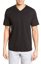 Men's Cutter And Buck 'Sida' Regular Fit V Neck T Shirt Black