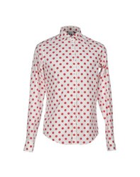 Etichetta 35 Shirts Shirts Men Red