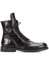 Ann Demeulemeester Zipped Combat Boots Men Leather 42 Black
