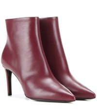 Balenciaga Leather Ankle Boots Red