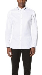 The Kooples Dress Shirt With Grosgrain Detail White