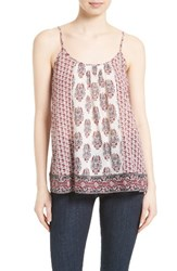 Soft Joie Women's 'Sparkle' Block Print Cotton Tank Porcelain Jasmine