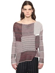 Vivienne Westwood Patchwork Wool And Cotton Blend Sweater