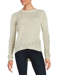 Design Lab Lord And Taylor Textured Knit Sweater Oatmeal
