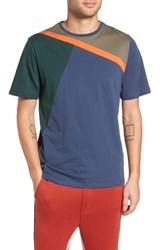 Native Youth Colorblock T Shirt Navy