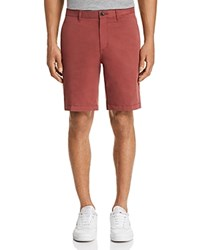 Michael Kors Garment Dyed Stretch Cotton Shorts Sienna Red