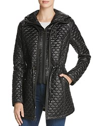Laundry By Shelli Segal Drawcord Waist Quilted Jacket Black