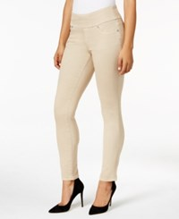 Jag Pull On Colored Wash Skinny Jeans Only At Macy's Beige