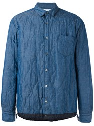 Sacai Quilted Shirt Blue