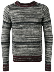 Dries Van Noten Striped Sweater Black
